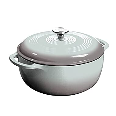 Lodge EC6D05 Enameled Cast Iron Dutch Oven, 6-Quart, Gray