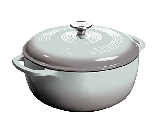 Lodge EC6D05 Enameled Cast Iron Dutch Oven, 6-Quart, Gray by Lodge