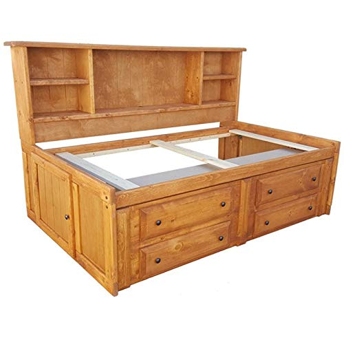 Coaster Wrangle Hill Twin Storage Daybed in Amber Wash and Bronze