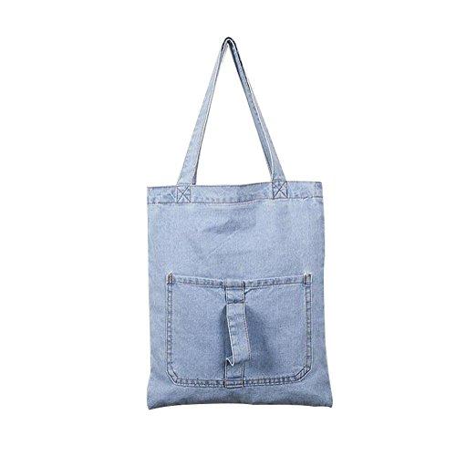Sacchetto Del Borse Casuale Spalla Jeans Di Messaggero Signora Della Donne Azzurro Frizioni Modo Espeedy Tasca SwE4xtqWWv