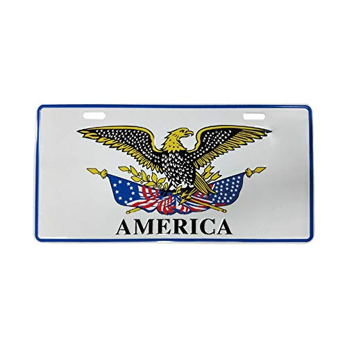 (Big Ant Car Decoration Plate Personalized License Plate for Front Car Decoration - American Patriotic Eagle License Plate with Eagle License Plate Cover for Auto Car)