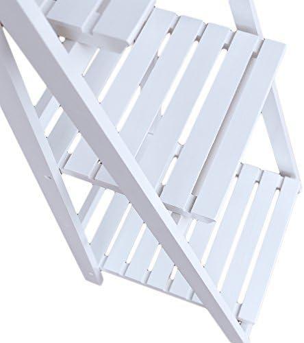 Estantería para flores plegable con 3/4 estantes y escalera de madera, para exhibir flores, marcos, adornos - Para balcón y jardín, 3 Ripiani, Bianco: Amazon.es: Hogar