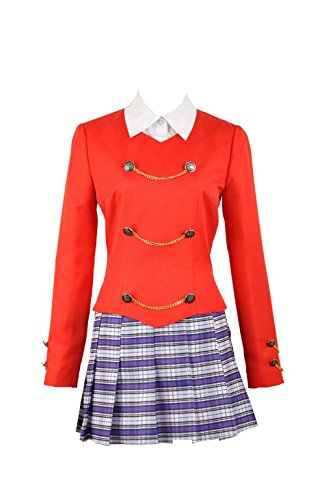 (Heathers The Musical Rock Cosplay Chandle Red Stage School Dress Women Fancy Outfit Clothing(X-Small Female))