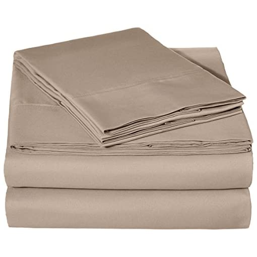 Amazonbasics Microfiber Bedsheet Set With 2 Pillowcases - King, Taupe