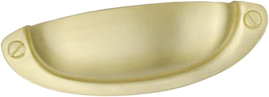 B Blesiya Vintage Messing Muschelgriffe Schalengriffe Griffmuscheln Apothekergriff Griffschale M/öbelgriff Farbe-1