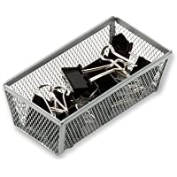 Honey Can Do 6 x 3 Inch Steel Mesh Drawer Organizer (Silver)