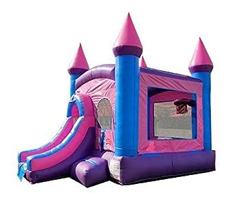 Pogo Bounce House Casa Hinchable y tobogán húmedo/seco, 12 pies ...