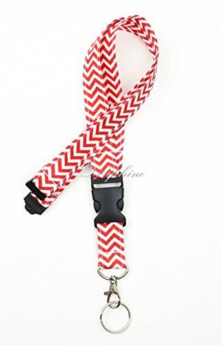 breakaway-wave-fabric-neck-chevron-lanyard-with-detachable-buckle-red