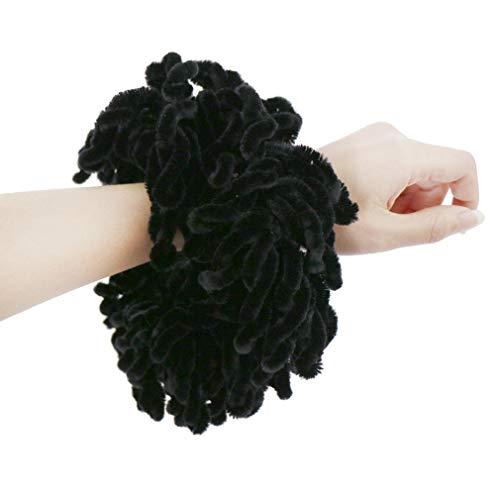 LMVERNA Volumising Hijab Scrunchie Plain Big Hair Ring Tie Bun Clip Hijab Scarf Volumizer Scarf (Black) (Hair Accessories Hijab)