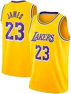 JINHAO Camiseta de Baloncesto Masculino NBA Lakers # 23 Lebron ...