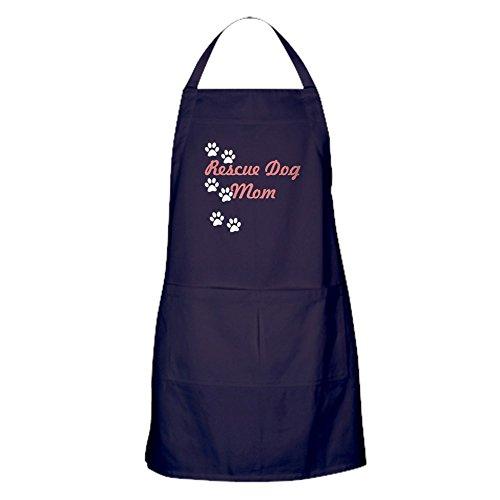 - CafePress Rescue Dog Mom Apron (Dark) Kitchen Apron with Pockets, Grilling Apron, Baking Apron