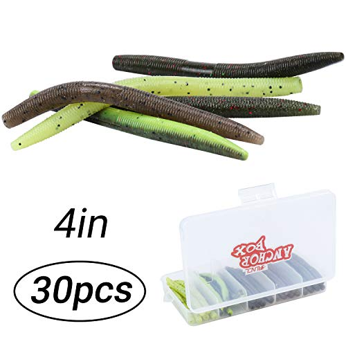 10 Pack 3 inch Floating Stick Bait Lure Senko Worm Plastic Bass Fishing Tackle E