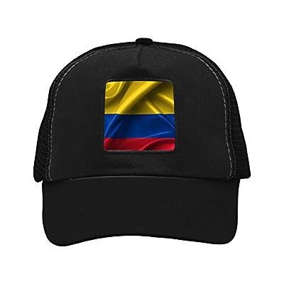 WDFGMZE Plain Baseball Cap Hat Colombia Flag Twill Mesh Cool Adjustable Unisex Caps