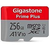 Gigastone 256GB MicroSD Card A1 V10 UHS-I U1 Class 10 SDXC Memory Card with SD Adapter High Speed Full HD Video Nintendo Dashcam GoPro Camera Samsung Canon Nikon DJI Drone
