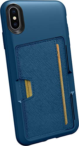 Silk iPhone Xs Max Wallet Case - Wallet Slayer Vol. 2 [Slim Protective Kickstand CM4 Q Card Case Grip Cover] - Blues on The Green