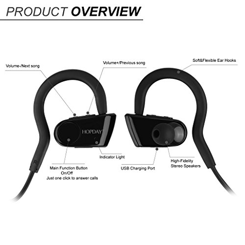 Aud 237 Fonos Bluetooth Hopday L6 Sports In Ear Disfruta La