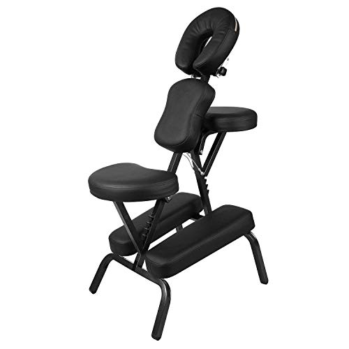 Massage Chair Professional Portable Indian Head, Use in Massage, Spa & Chiropractic Therapy,Beauty, Manicure & Tattoo Salons,with Carrier Bag (Best Chair For Indian Head Massage)