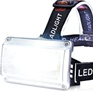 LED Rechargeable Headlamps, LETOUR Camping Headlights 7 Modes Superbright Headlamp Flashlight IP65 Waterproof