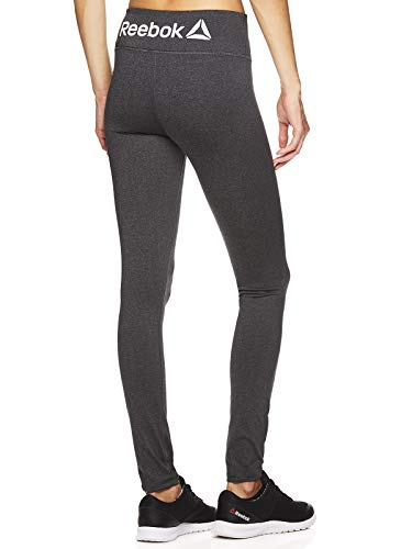 Reebok Women's Legging Full Length Performance Compression Pants - Charcoal Heather, Small ()