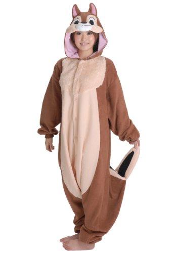 Chip Kigurumi - Adult Halloween Costume Pajama (Chip & Dale (Dale Costume)