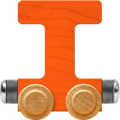 NameTrain Bright Letter Car T - Made in USA (Orange) 6 Letter Names