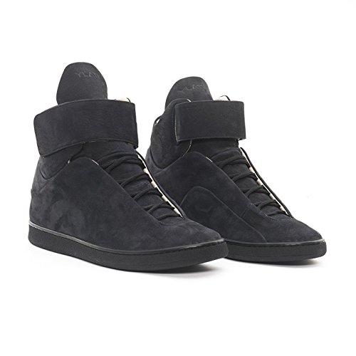 YLATI - Zapatillas de Piel para hombre negro negro