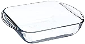 Anchor Hocking 77887 Fire-King Square Cake Dish, Glass, 8-Inch