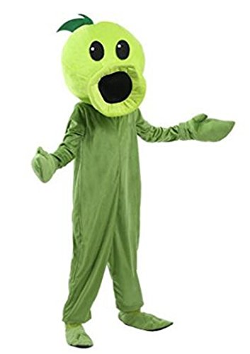 Adult Peas Costumes (Qichuhua unisex-child Plants Vs Zombies Child Peashooter Costume)