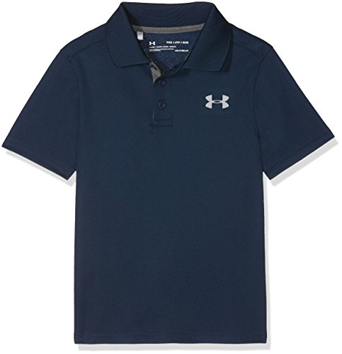 Performance Polo Boy's Short-Sleeve Shirt, Academy / Carbon Heather / Steel (408), Youth X-Large