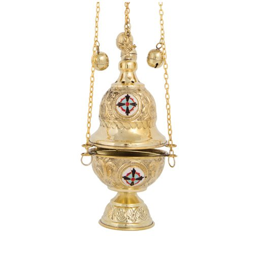 Brass Christian Church Thurible Incense Burner Censer (377 B) by eChurchSupplies (Image #2)