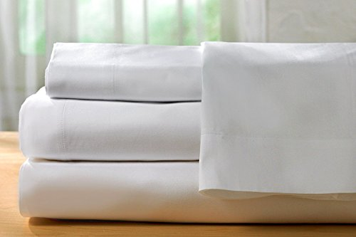 Hotel Sheets Direct 100% Bamboo 4 Piece Bed Sheet Set -1600 Thread Count (Queen White)