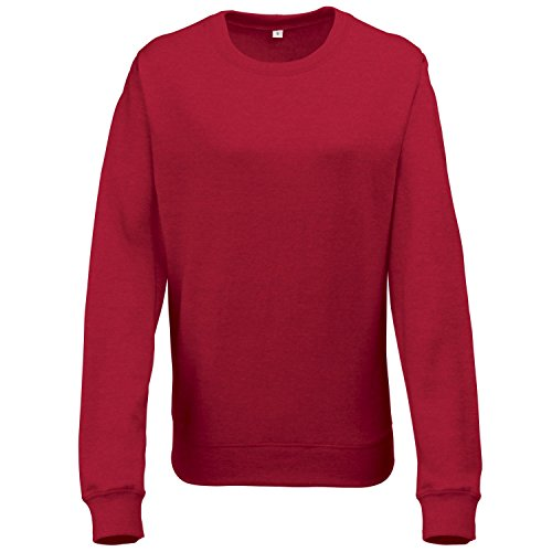 Just hottes Par expression chiné AWDis Sweat JH045 Rouge chiné Taille L