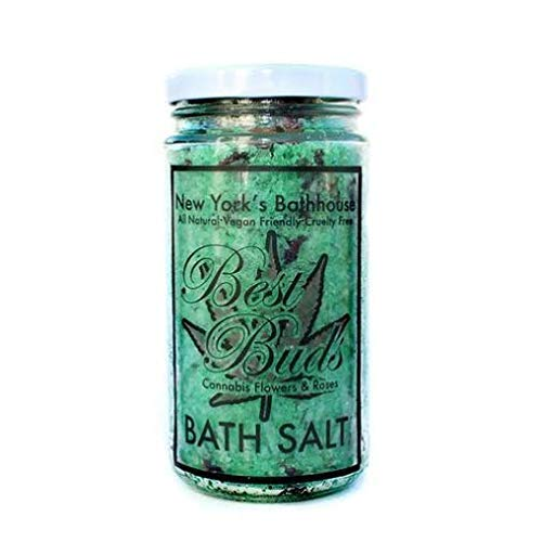 Cannabis Flowers & Roses Bath Salts, Spa, Bath Soak
