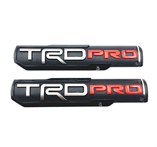MAX WHOLESALE Pair 2016-2018 Tacoma TRD PRO Fender Door Side Badges Emblem Decal Sticker For Toyota Tacoma Pro