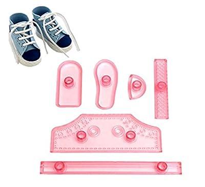 Windspeed 6pcs/set Sneaker Soccer Shoes Baking Cake/Candy/Sugar/Fondant Mold Kids' Birthday Cake Decoration Supply