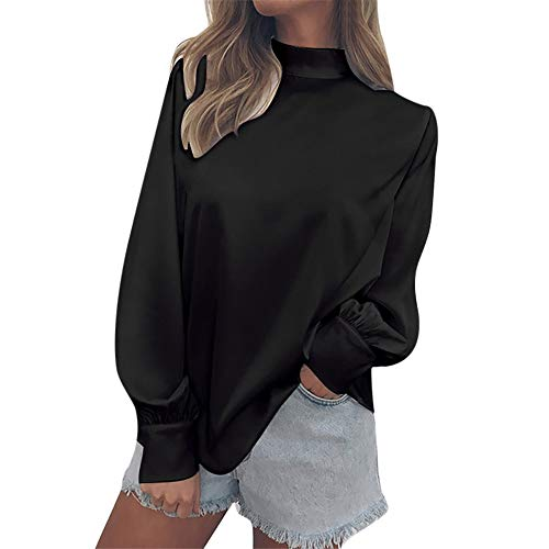 Clearance Women Tops LuluZanm Office Ladies Lantern Sleeve Blouse Tops Fashion Womens Chiffon Solid ()