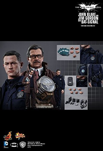 (Hot Toys HT The Dark Knight Rises John Blake And Jim Gordon With Bat-Signal 1/6 Scale)