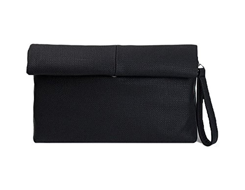 GSHGA Bolsos De Las Mujeres Simple Linen Hand BagRetro Roll Messenger Bags Fashion,Black Black