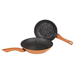Allrecipes Sizzle Sensor Fry Pan Set, Nonstick, 2 Piece