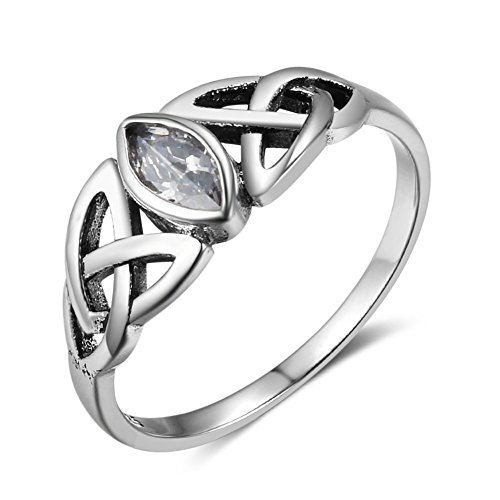 (Furious Jewelry 925 Sterling Silver Trinity Celtic Knot Band Ring)
