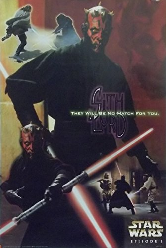 Star Wars 24x36 Sith Lord Poster 1999 Darth Maul