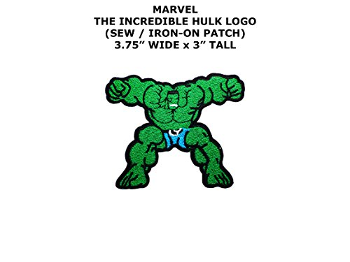 Incredible Hulk Diy Costume (Marvel Comics The Incredible Hulk Super Hero DIY Embroidered Sew or Iron-on Applique Patch Outlander Gear)