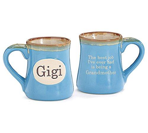 Grandma Mug Ceramic (Gigi Handpainted Porcelain 18 oz Coffee Mug)