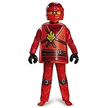 Disguise Costumes Kai Deluxe Ninjago Lego Costume, Medium/7-8