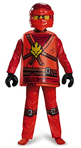 Disguise Kai Deluxe Ninjago LEGO Costume, Large/10-12 (Lego Halloween Costumes)