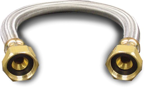c. 88-4018 Braided Water Heater Connector, 3/4-Inch F by 3/4-Inch F by 18-Inch, Stainless Steel ()