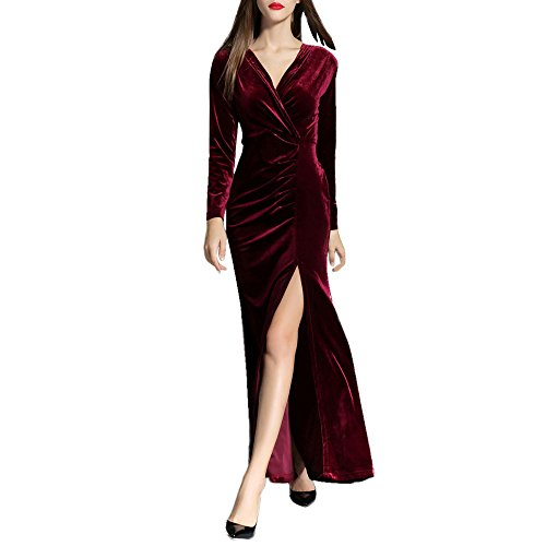 Women's Ball Gown Prom Party Formal Celeb Evening Maxi Dress - 1