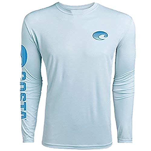 Costa Del Mar Technical Crew Performance Long Sleeve, Artic Blue, ()