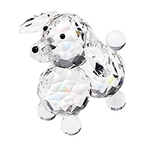 The Paragon Crystal Collectible - Petite Crystal Dog Figurine, Glass Trinket Figure