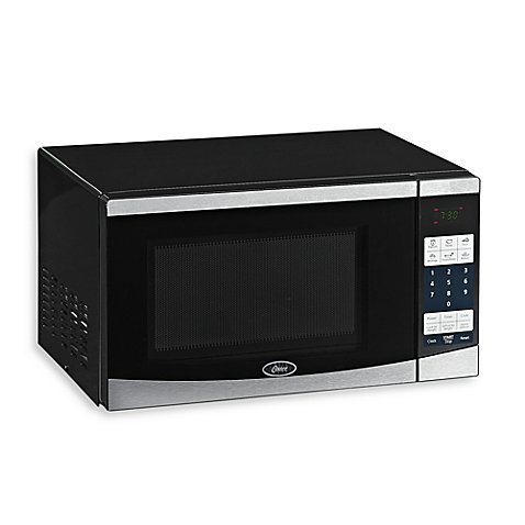 Compact Microwave with Digital Controls Stainless Steel Front Door with Mirror Glass